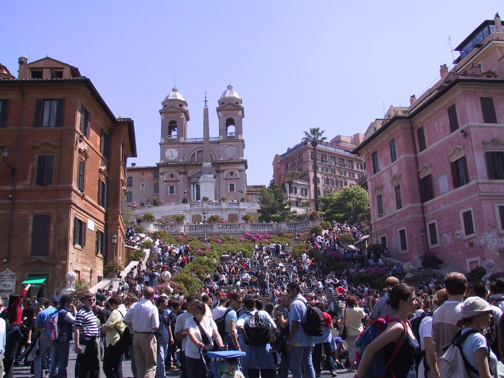 The madness of the Spanish Steps, Rome